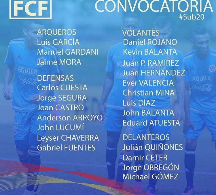 Selección Colombiana – South American Youth Football 2017