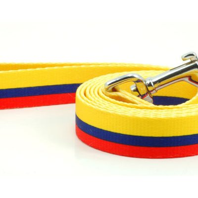 Colombia Dog Pet Leash Colombian Flag Colors