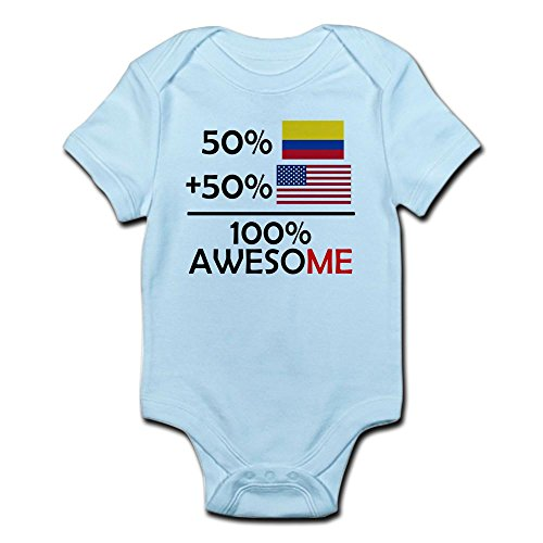 Colombia Baby Onesie Half Colombian American 100% Awesome