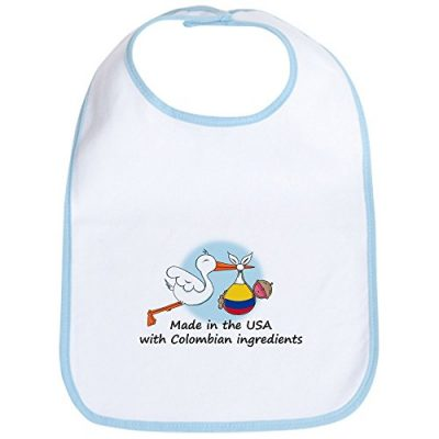 Colombia baby bib made in usa with colombian ingredients