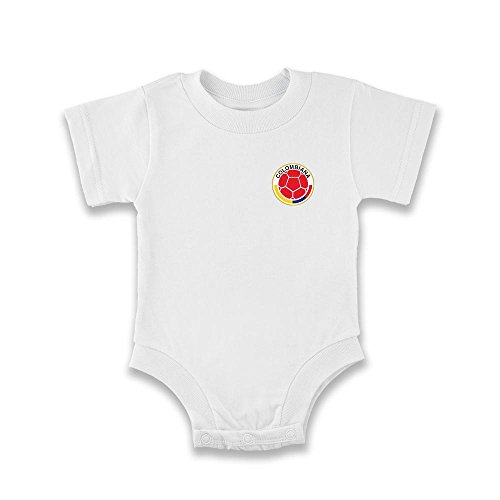 Colombia Baby White Onesie FCF Logo