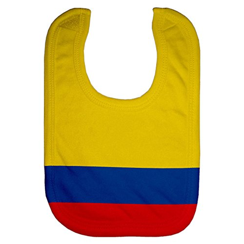 fb0d0c1b94e Colombia Baby Bib Tricolor   USA Flag - VamosColombia