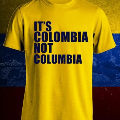 It's Colombia Not Columbia T-Shirt Yellow