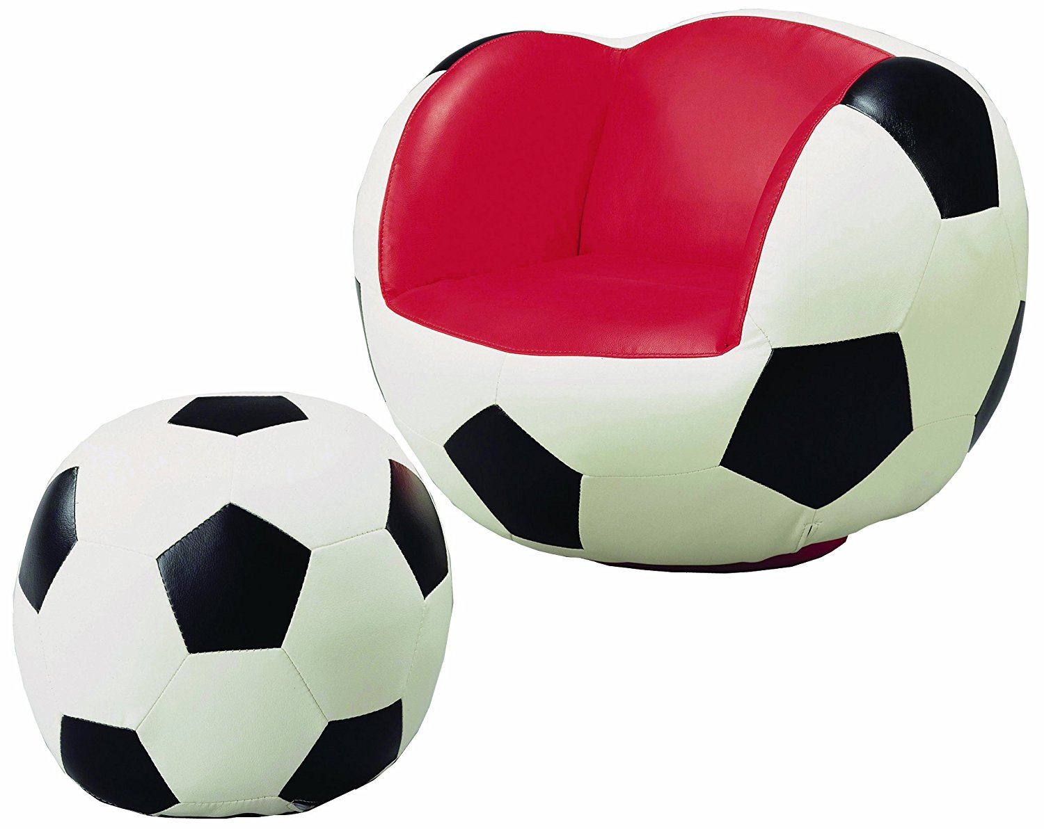 Soccer Sportsfan Chair and Ottoman