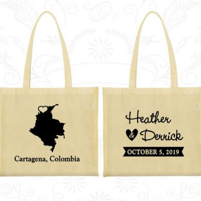 Colombia Tote Bag Personalized Wedding Birthday