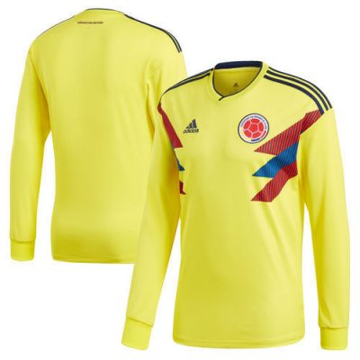 2018 Men's Long Sleeve Colombia Home Jersey