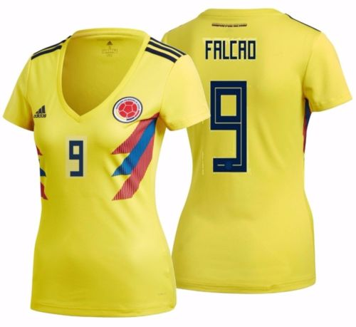 2018 Women's Colombia Yellow Soccer Home Jersey Radamel Falcao 9