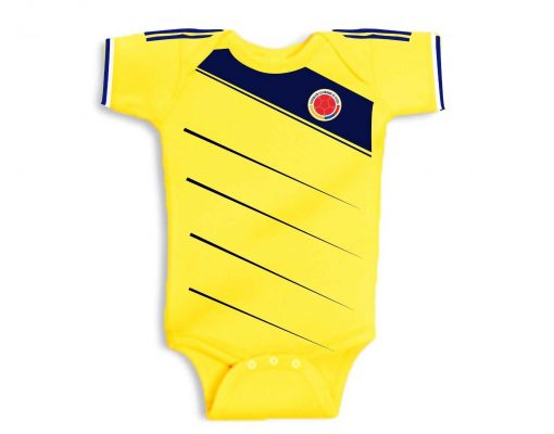 Yellow Baby Soccer Jersey Onesie World Cup 2014