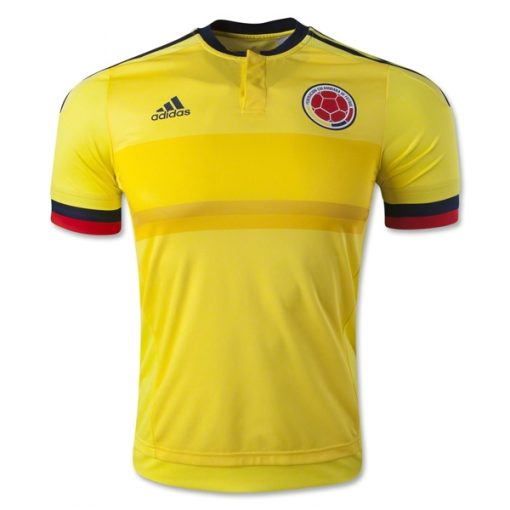 Kids Youth Colombia Yellow Soccer Jersey 2015-2016