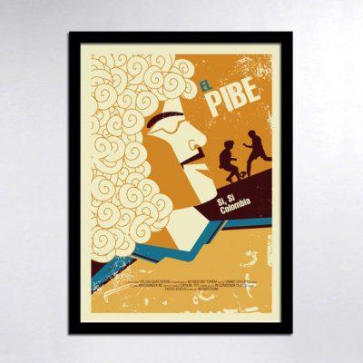 El Pibe Carlos Valderrama Poster Illustration