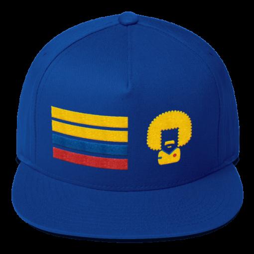 Colombia Snapback blue cap Colombia Flag El Pibe Carlos Valderrama