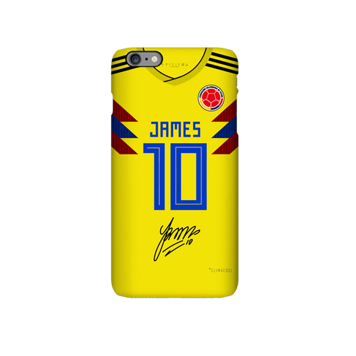 Colombia 2018 soccer jersey james rodriguez iphone case cover