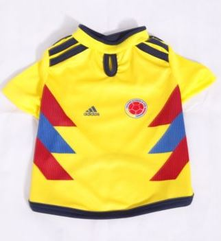Colombia dog pet jersey World Cup Soccer