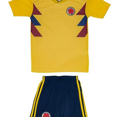 Colombia 2018 World Cup Soccer Jersey and Shorts Kit for Youth and Toddlers
