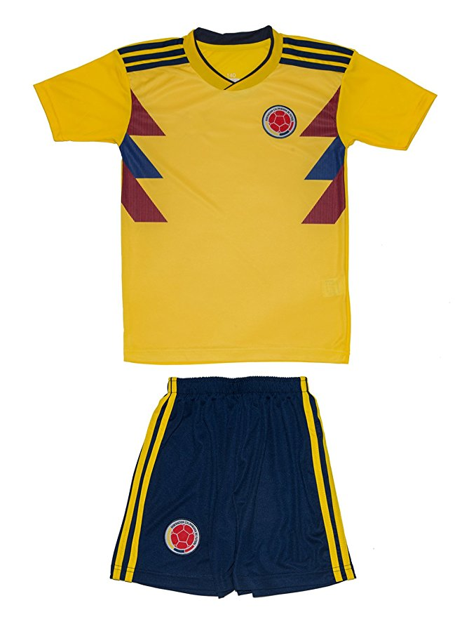 0f5aecb4cbf Colombia 2018 World Cup Soccer Jersey and Shorts Kit for Youth and Toddlers