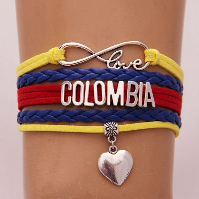 Colombia Tricolor Infinity Bracelet