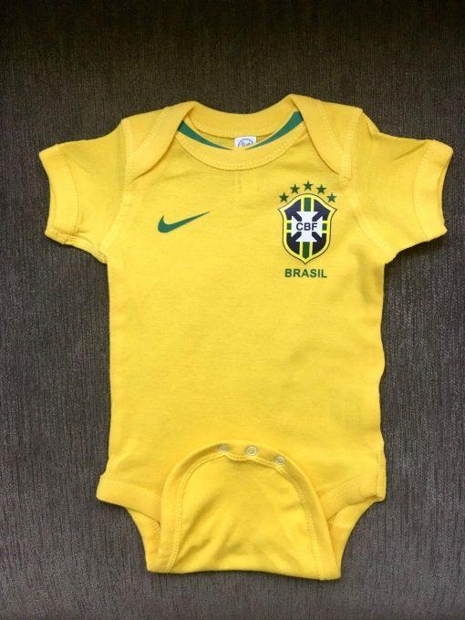Brazil Baby Onesie Jersey Yellow