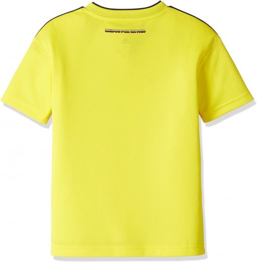 Colombia Home Soccer Jersey Kids Back